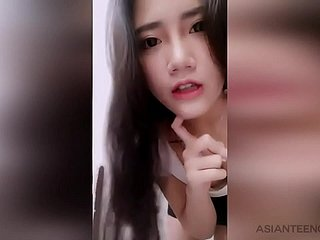 (AMATEUR) Young Chinese girl masturbates hither a intercourse trinket