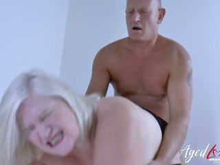 British old nanny Lacey Starr seduces duo neighbor and fucks him like cog in another manner in the lead