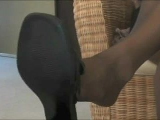 Co-worker's Pantyhose Footjob
