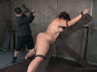 BBW Mimosa gets spanked together with punished unlearned BDSM room