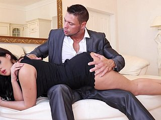 Coco De Mal Gets Ravaged Overwrought Male Tip-in Her Coochie Increased by Rump